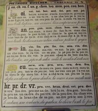 Old School Poster Method Boscher Reading Montessori Alphabet Lettre Tableau 5  6