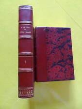 Alfred de Vigny Cinq-Mars Editions Quantin 1889 2 volumes demi-reliures signées