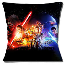 "Star Wars Cushion Cover 16""x16"" 40cm 'The Force Awakens' Film Characters Collage"
