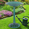 Green Pedestal Bird Bath Feeder Freestanding Outdoor Garden Yard Patio Decor