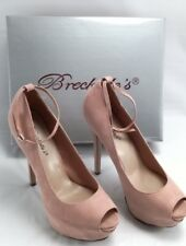 Breckelles Women JUDY-21S High Heel Ankle Strap Peep Toe Platform Stiletto Pumps