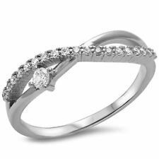 Cz Infinity .925 Sterling Silver Ring Sizes 4-10