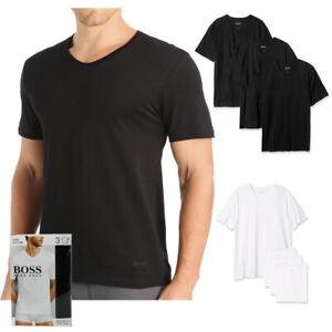 Hugo Boss Men's 3 Pack Regular Fit Pure Cotton V-Neck T-Shirts