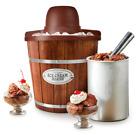 Electric Ice Cream Maker 4-Quart Wood Bucket Frozen Yogurt Sorbet Mixer Soft NEW photo