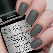 QUTIQUE Gel Nail Polish Colour -SOLVENT -gold/silver dark grey shimmer