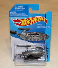 2014 Hot Wheels HW City #75 Star Trek U.S.S. Vengeance Grey New
