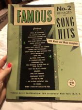 Famous 88 pages of Son Hits No. 2 with Words and Music Complete Sheet Music Book