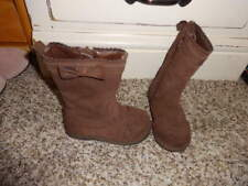 JANIE AND JACK BROWN 5 LEATHER BOOTS W BOW