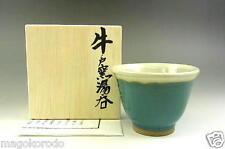 o5036,JPN,Folk craft movement, Ushinoto Wear, SENCHA greentea teacup.