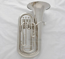 Professional New Silver Nickel Euphonium horn 4 Valves With Case