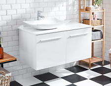 Bathroom Cabinet single basin with board top bench close doors Vanity AR1021