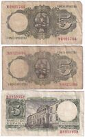 1951 & 1954   Spain 5 Pesetas Banknotes   Banknotes   KM Coins