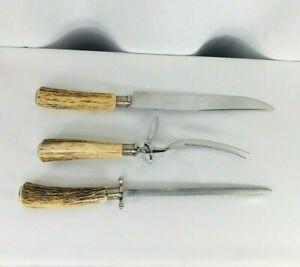 Vintage Solingen Germany Knife Sharpener Fork Set Serving Anton Wingen Jr