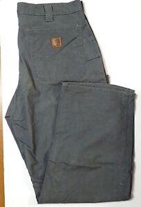 Carhartt B151 FAT Gray Dungaree Fit Cotton Canvas Work Pants Men's 36 x 30