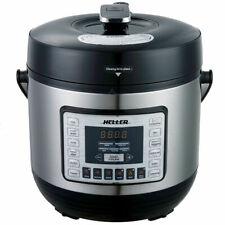 Heller HPC1000 6L Electric Digital Slow/Pressure Cooker Stainless Steel 1000W