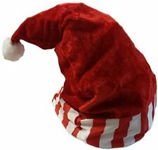 Adults Christmas Traditional Red & White Striped Santa Hat