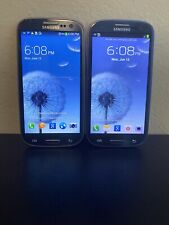 Lot Of (2) Samsung Galaxy S III SGH-I747 16GB Pebble Blue (AT&T), (Cricket)