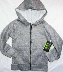 NWT Boys Gray Marl Print CRUNCH TIME Full Zip Hoodie Sweatshirt Choose Size!