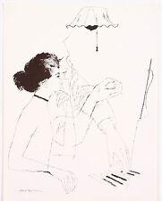 David Stone Martin Music Instrument Jazz Piano Lesson Lithograph