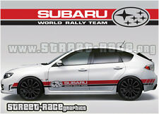 Subaru Impreza 024 World Rally Team racing stripes decals stickers graphics