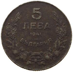 BULGARIA 5 LEVA 1941 #c20 1029