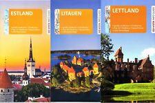 BALTIKUM Reiseführer-Paket m großen LANDKARTEN ESTLAND LETTLAND LITAUEN 2017+18