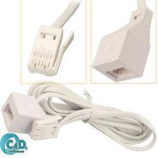 5M RJ11 Reino Unido macho a hembra Cable de extensión de BT Reino Unido extender para teléfono fax-módem