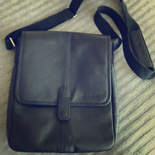 Coach  Messenger Black Leather Crossbody Bag