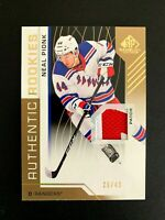 2018-19 SP Game Used Gold Spectrum #179 Neal Pionk PATCH/49