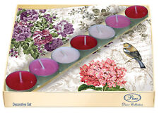 20 Paper Napkins  5 Tea Lights Candles CHARMING GARDEN Decoration / D