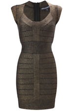 French Connection Shimmer Stretch Bandage Bodycon Party Mini Dress Size 6