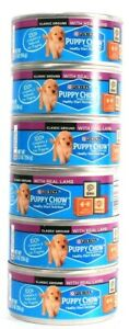 6 Count Purina 5.5 Oz Puppy Chow Classic Ground With Real Lamb BB 3/2022