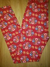 Lularoe OS Leggings Red Floral
