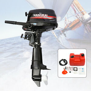 6.5 HP 4 Stroke Outboard Motor Marine Boat Engine Water Cooling Tiller Control