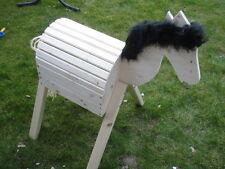 Mini Holzpferd Voltigierpferd Holzpony Pferd Pony -neu- Fell