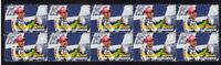 VALENTINO ROSSI MOTO GP STRIP OF 10 MINT W/C VIGNETTE STAMPS 1
