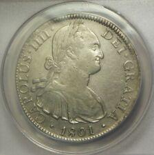 1801 FM 8 Reales:   ANACS EF40:   Mexico City Mint