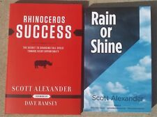 Combo pack- Rhinoceros Success and Rain or Shine by Scott Alexander. Autographed