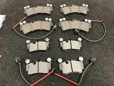 PORSCHE CAYENNE VW TOUAREG Q7 BRAKE PAD FRONT REAR BRAKE PADS * SENSORS