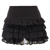 Vintage Women Steampunk Ruffle Lace Shorts Gothic Lolita Culottes Cosplay Pants