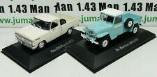 LOT 2 Voiture 1/43 SALVAT Autos Inolvidables : Ford F100 Pick-Up et IKA Baqueano