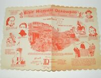 1954 Historic Deadwood VTG Paper Diner Placemat Advertising Annual Days Summer