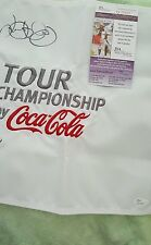 Undated Tour Championship embroidered pin flag signed Rory McILROY JSA Q39900