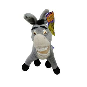 Dreamworks Donkey Shrek Third Plush Soft Toy Stuffed Animal with Tag 2007 20cm