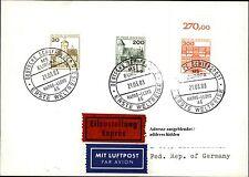 Schiffspost Brief Eilzustellung Schiff MS EUROPA Paquebot v.d. Erste Weltreise