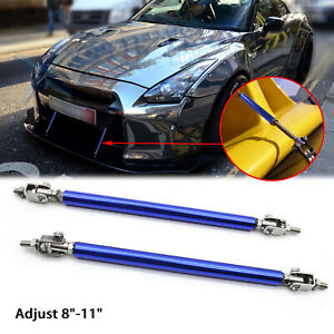 "For Nissan 370Z GTR Adjust 8""-11"" Front Bumper Support Strut Rod Splitter Bars"