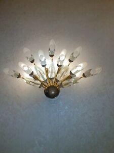 Luminaire cristal applique murale