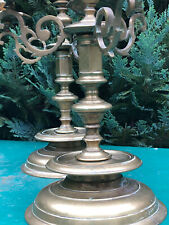 Antique French Candlestick Candélabre Bronze Louis XIII Haute Epoque Bougeoir