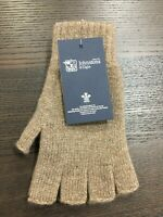 100% Cashmere Fingerless Gloves | Johnstons of Elgin | Made in Scotland | Brown