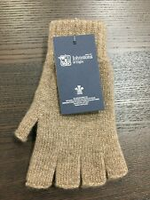 100% Cashmere Fingerless Gloves   Johnstons of Elgin   Made in Scotland   Brown